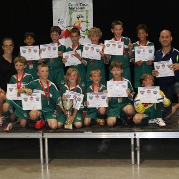 Le U-9A et le U-11A Masculin du FC St-Hyacinthe Champions au tournoi de Magog