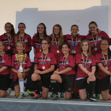 Les «Poulettes» de Bourg-Joli U13-14 remportent un 2e tournoi cet été