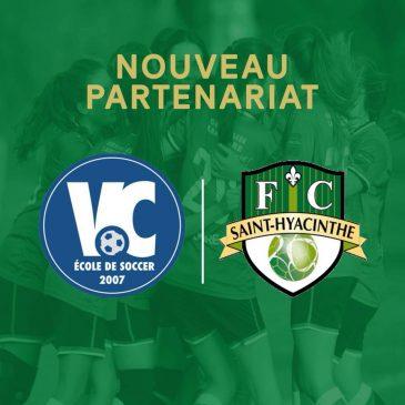 Nouveau – Partenariat avec l'École de soccer VC
